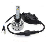 H1 Premium LED Headlight/Fog Light Conversion Kit with External Drivers - 10,000 Lumen/Set