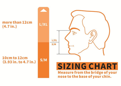 Full Face Snorkel Mask Sizing Guide