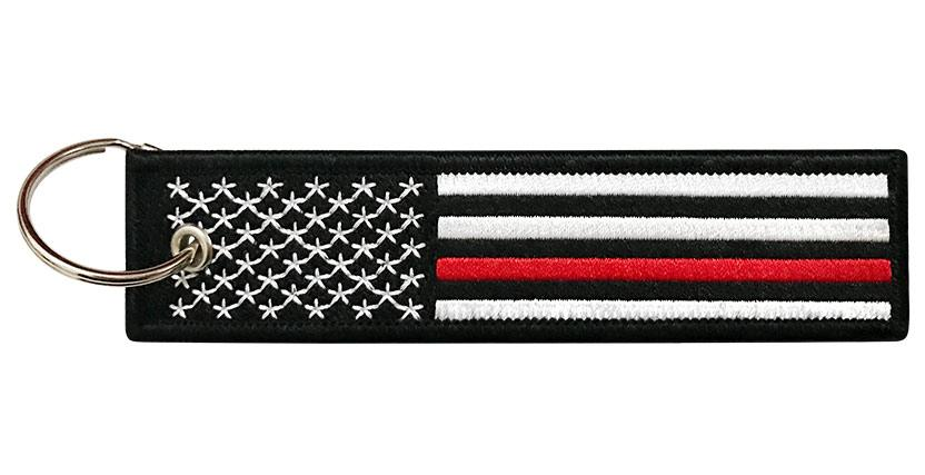 10031745b8fc American Flag Key Tag - Thin Red Line - Firefighters