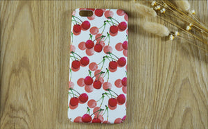 For iPhone 6/6S Cases Fruit Series Mobile Phone Shell Frosted Skin All Wrapped Hard Case - Cherry