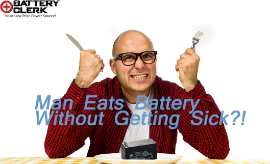 Man Eats Battery to Prove a Point