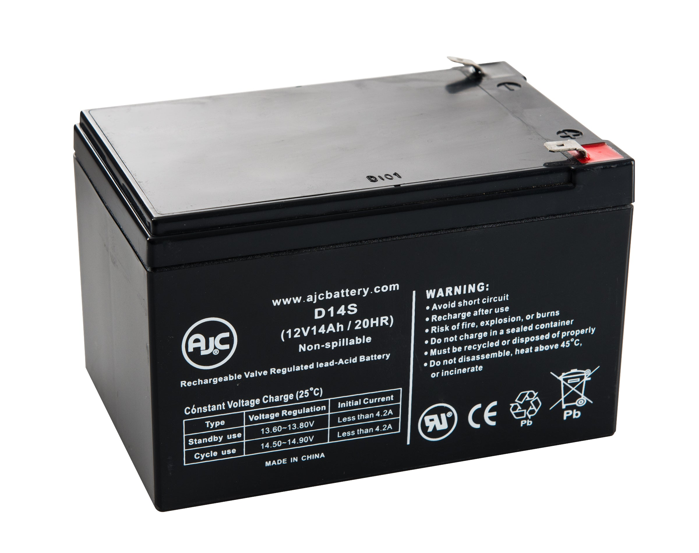 scooterteq 6fm14 12v 14ah scooter replacement battery. Black Bedroom Furniture Sets. Home Design Ideas