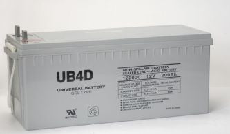 UPG GEL 12V 180Ah Sealed Lead Acid - GEL Battery - L4