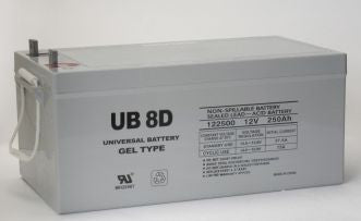 UPG GEL 12V 250Ah Sealed Lead Acid - GEL Battery - L4