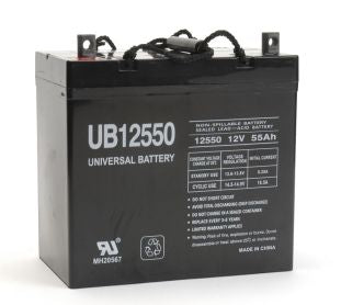 UPG 12V 55Ah Sealed Lead Acid - AGM - VRLA Battery - Z1 - + On Left