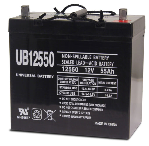 UPG 12V 55Ah Sealed Lead Acid - AGM - VRLA Battery - Z1 - Group 22NF