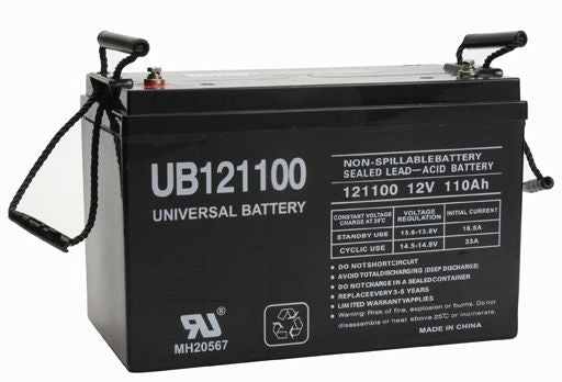 UPG 12V 110Ah Sealed Lead Acid - AGM - VRLA Battery - I6