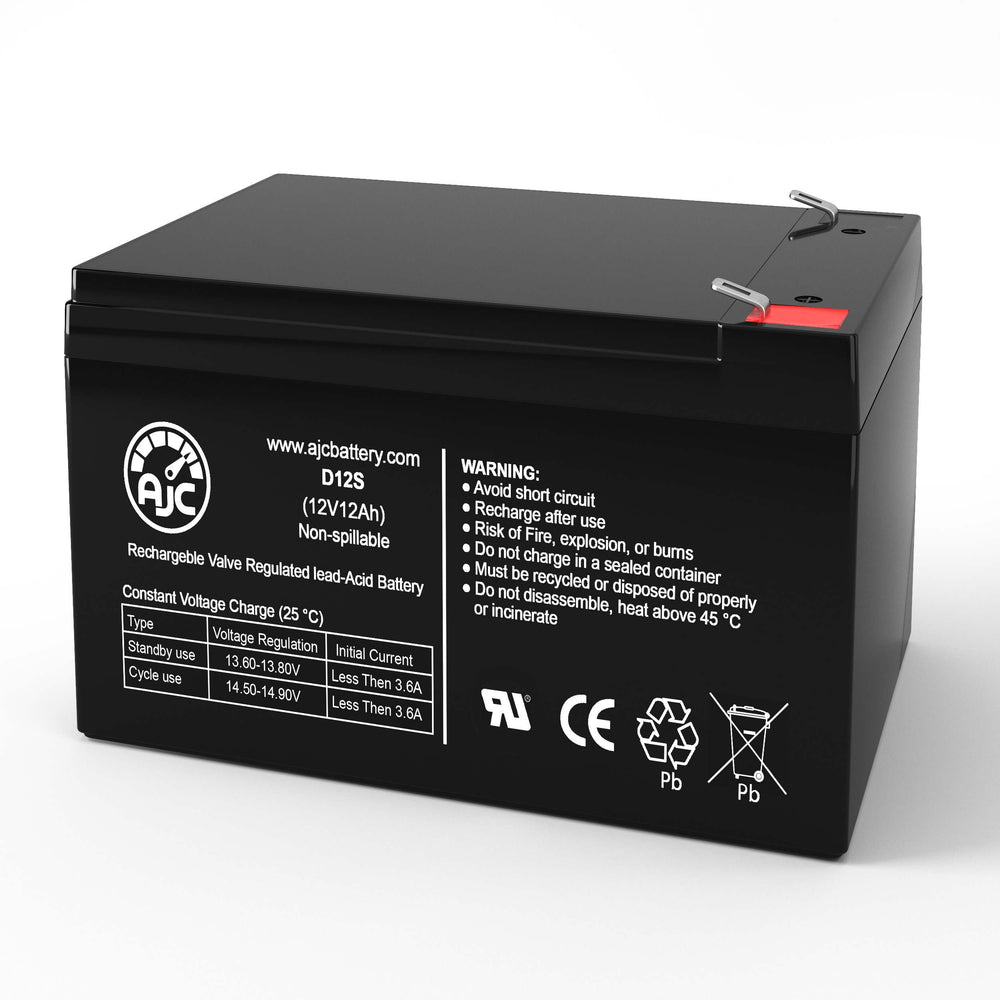 350W Ebike JE-4GBT 12V 12Ah Mobility Scooter Replacement Battery