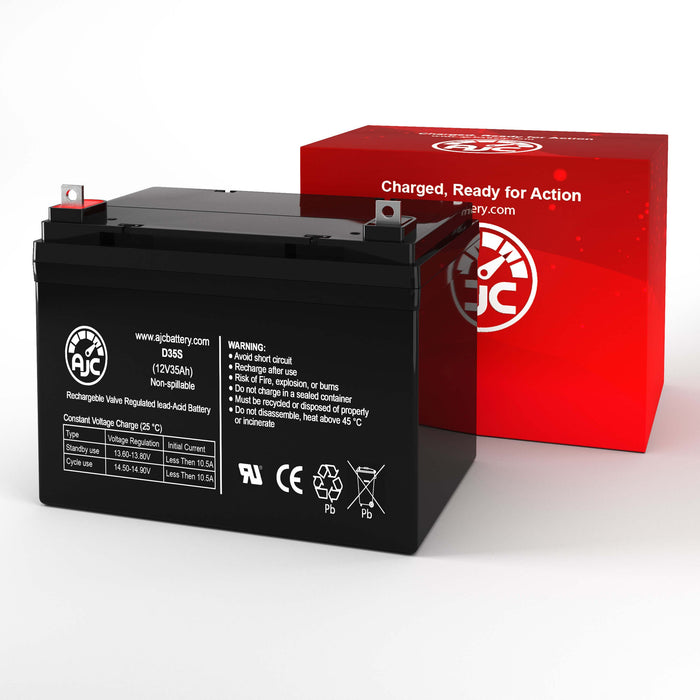 Quickie AGM1248T 12V 35Ah Wheelchair Replacement Battery-2