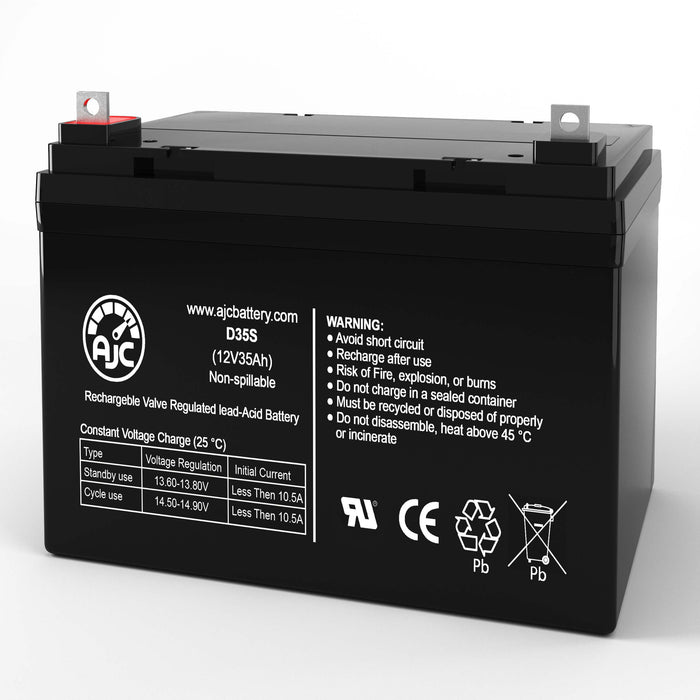 Everest & Jennings Model 34B- Sabre 12V 35Ah Wheelchair Replacement Battery
