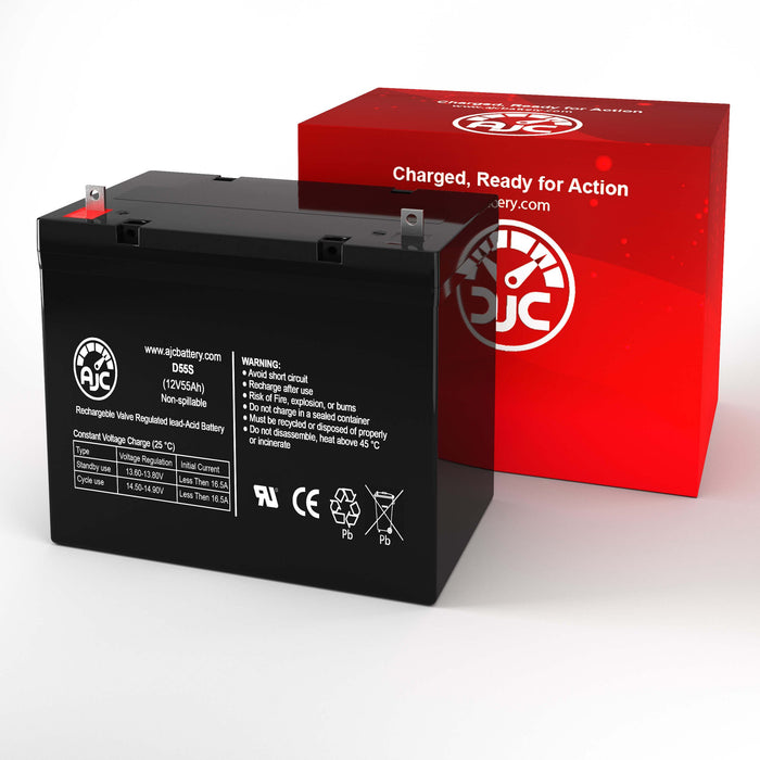 Hoveround Ventura Deluxe 3WHL 12V 55Ah Mobility Scooter Replacement Battery-2
