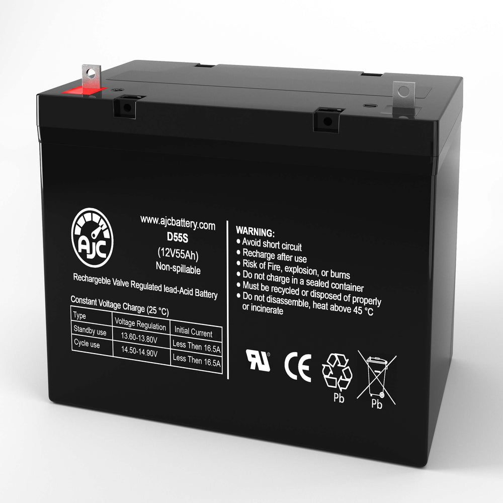 Everest & Jennings Model 34 Adult 22NF 12V 55Ah Wheelchair Replacement Battery