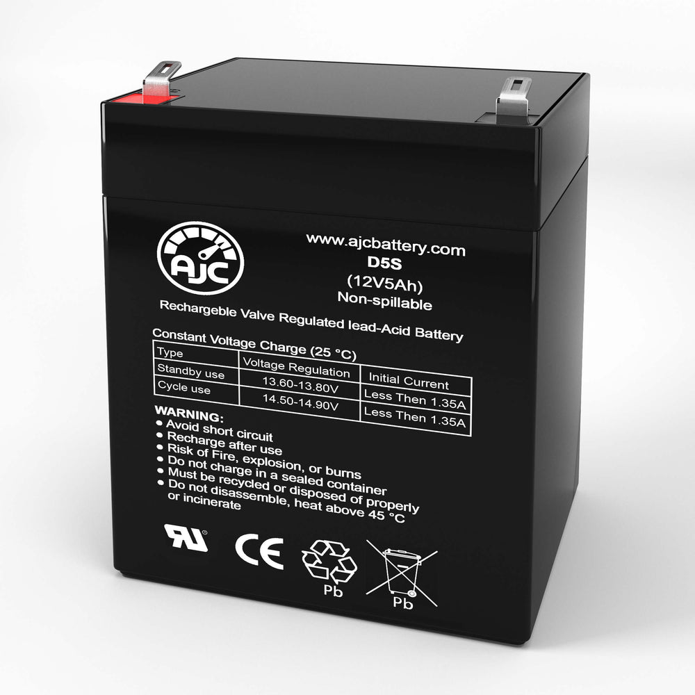 Gruber Power GPS5-12 12V 5Ah Sealed Lead Acid Replacement Battery