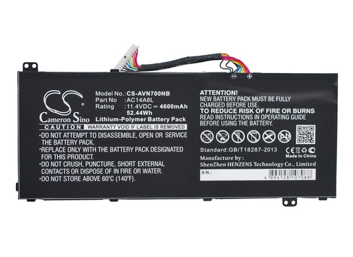 Acer Aspire V15 Nitro Aspire VN7 Aspire VN7-571 As Replacement Battery