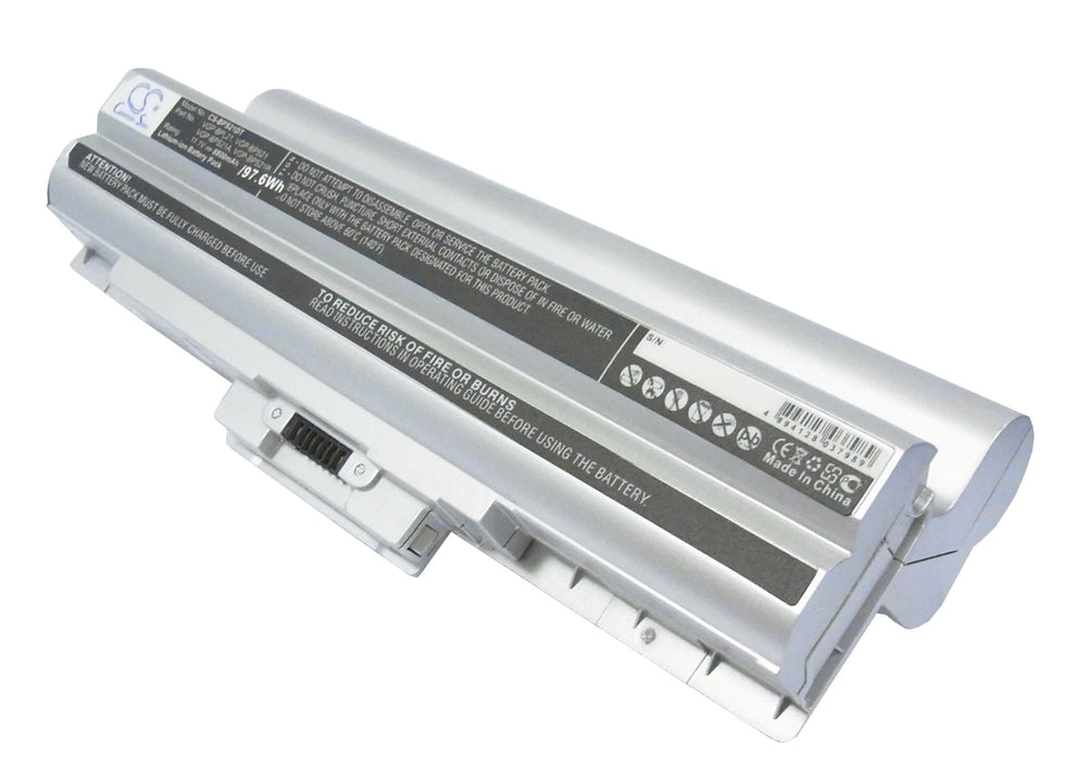 Sony AIO VPCF11JFX/B VAIO VPCF11M1E Silver 8800mAh Replacement Battery