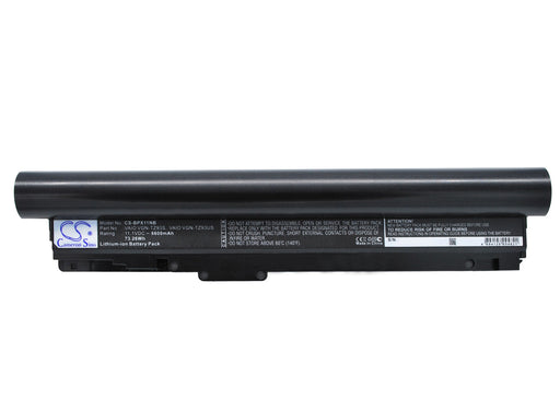 Sony VAIO VGN-TZ11MN/N VAIO VGN-TZ11VN/X V 6600mAh Replacement Battery