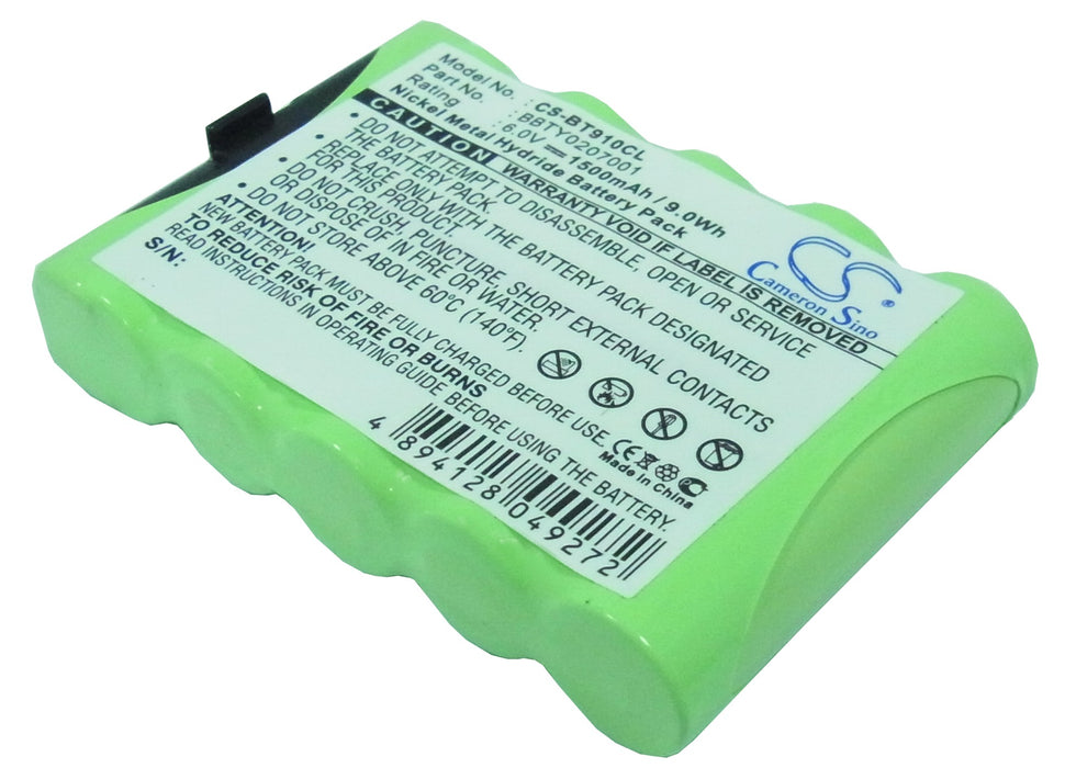 Uniden EXP9200 EXP-9100 EXP-9200 BBTY0207001 BP9100 BT9100 B Battery