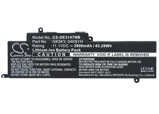 DELL Inspiron 11 3147 Inspiron 11 3147 3000 11.6 in Replacement Battery