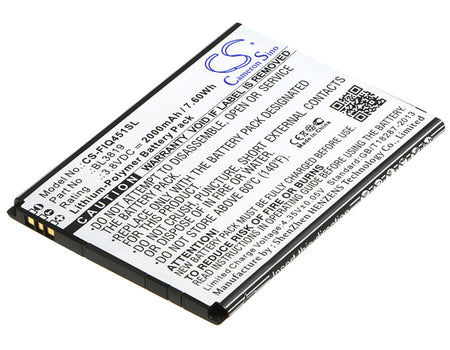 Fly IQ4514 IQ4514 Quad EVO Tech 4 Replacement Battery