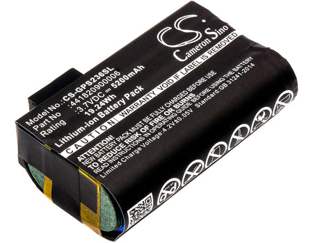 Getac PS236 PS336 5200mAh Replacement Battery