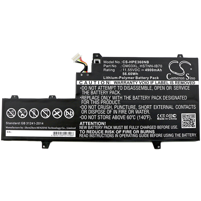 HP 1GY29PA 1GY30PA 1GY31PA EliteBook x360 1030 G2 Replacement Battery