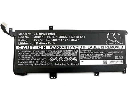 HP Envy X360 M6 M6-AQ003DX M6-AQ005DX M6-AQ105DX M Replacement Battery