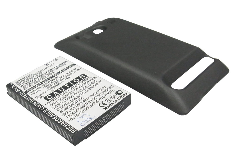 Sprint A9292 EVO 4G Supersonic Black 2200mAh Replacement Battery
