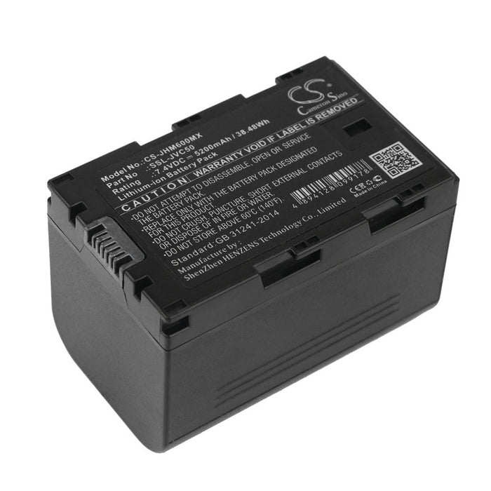 GY-HMQ10E GY-HM600E GY-HM650EC GY-HMQ10 GY-HM650 GY-HM600EC GY-HM600 GY-LS300CHE Replacement Battery for JVC GY-HM200