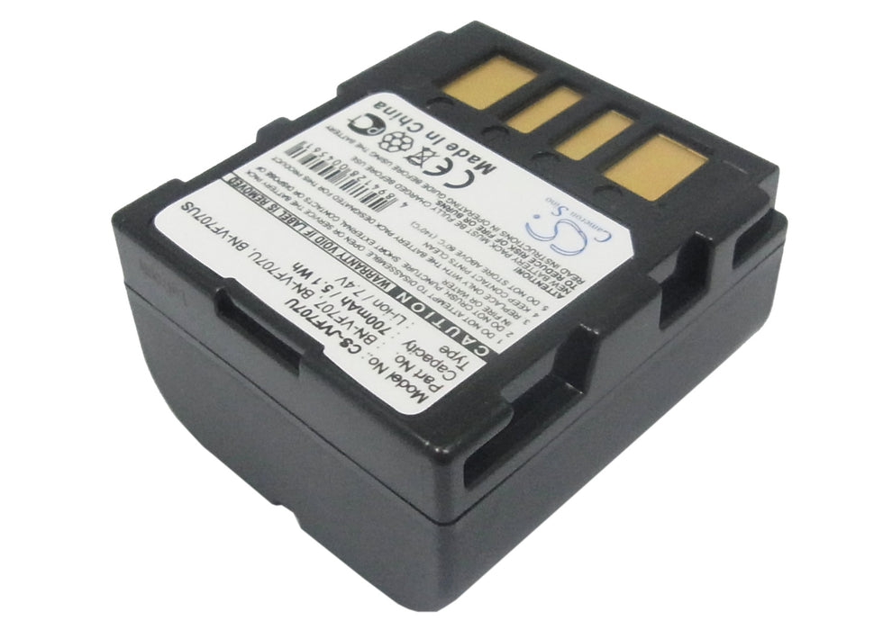 GR-D246 BN-VF707U BN-VF707US GR-D247 JVC BN-VF707 Battery 700mAh Replacement for JVC GR-D240