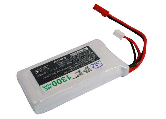 Replacement LiPO Battery - 2 Cell 7.4V 1300mAh 30C