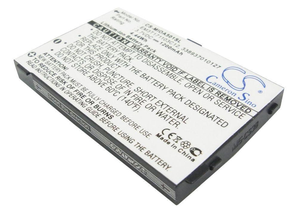 Mitac Mio A500 Mio A501 Mio A502 1200mAh Replacement Battery