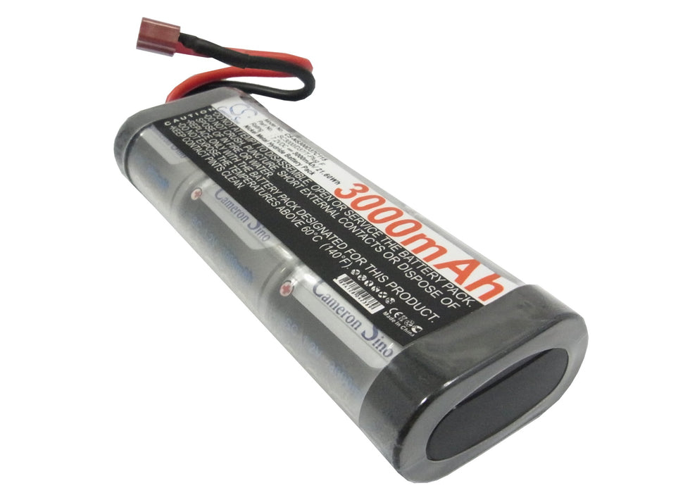 Replacement NiMH Battery - 7.2V 3000mAh - T-Plug Female
