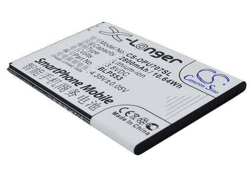 OPPO U2S U707 U707T Replacement Battery