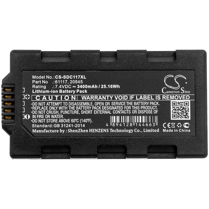 Sokkia Juniper Mesa Field Topcon Tesla 3400mAh Replacement Battery