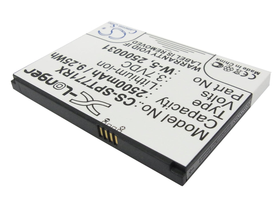 Sprint AirCard 770S AirCard 771S 2500mAh Replacement Battery