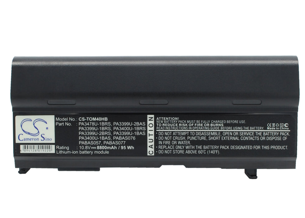 Toshiba Dynabook CX/45A Dynabook CX/47A Dy 8800mAh Replacement Battery