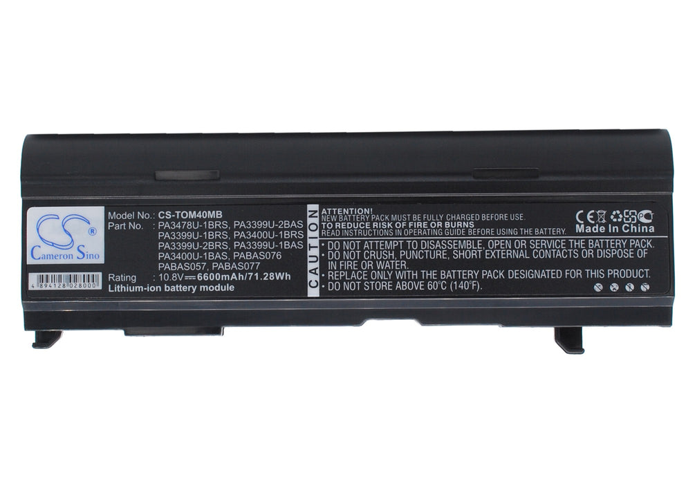 Toshiba Dynabook CX/45A Dynabook CX/47A Dy 6600mAh Replacement Battery