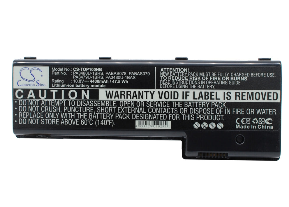 Toshiba Satellite P100 Series Satellite P1 4400mAh Replacement Battery