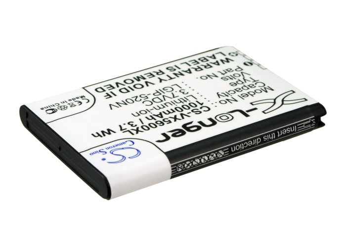 LG VX5600 Accolade UN150 Envoy MN270 Beacon MN270 VN15 1000mAh Replacement Battery