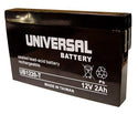 Power Patrol SLA1020 12V 2Ah Sealed Lead Acid Replacement Battery
