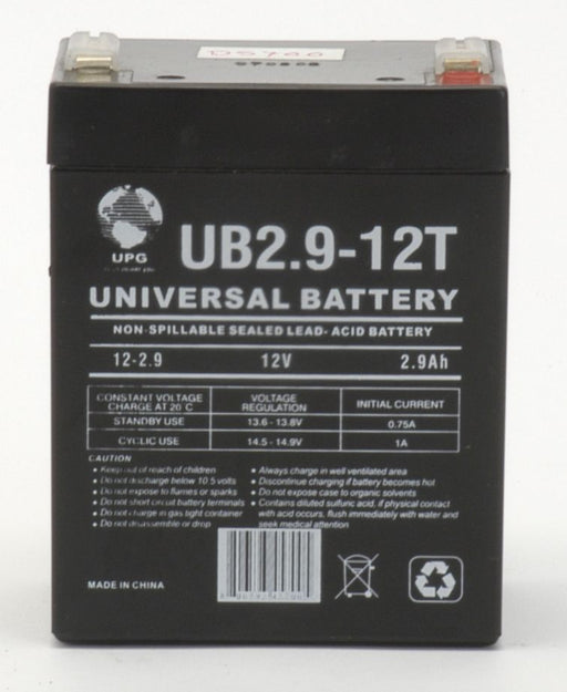 Mtd 1909647 12V 2.9Ah Lawn and Garden Battery