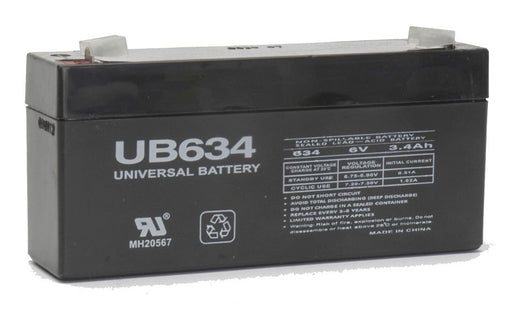 AJC JC628 6V 3.4Ah Sealed Lead Acid Battery ZZZ-D5732-A-1-161340 $16.39