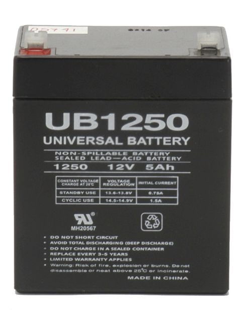 UPG 12V 5Ah Sealed Lead Acid - AGM - VRLA Battery - F1