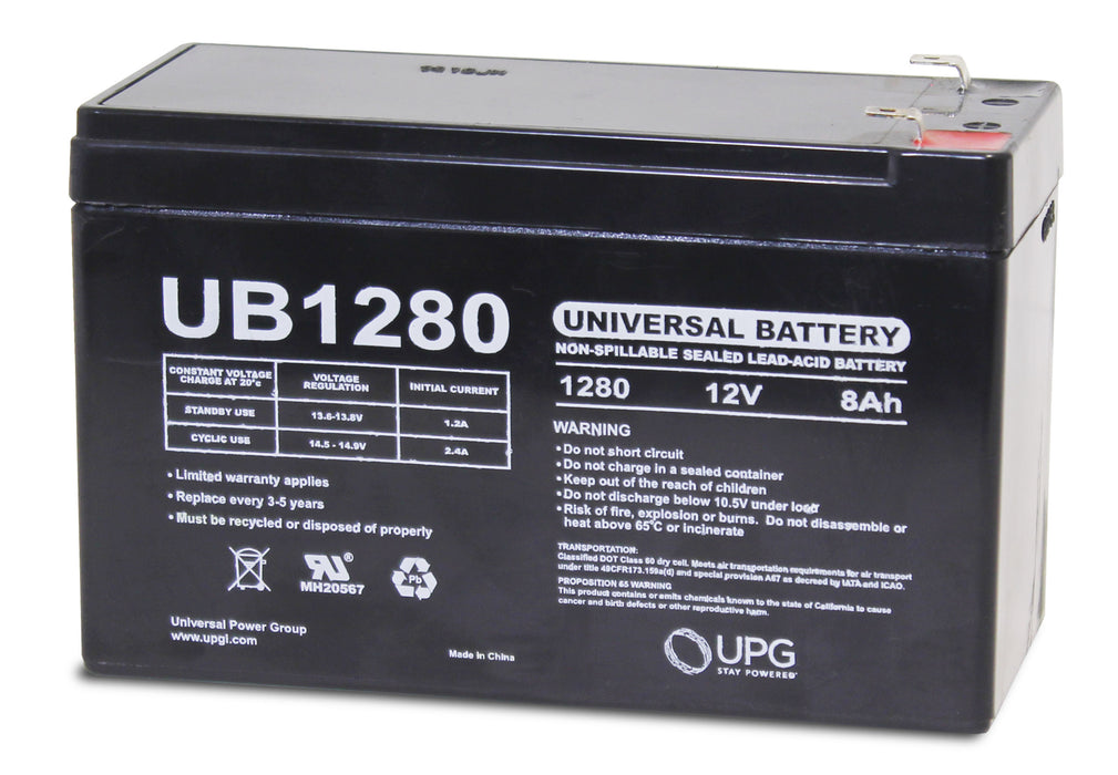 UPG 12V 8Ah Sealed Lead Acid - AGM - VRLA Battery - F1