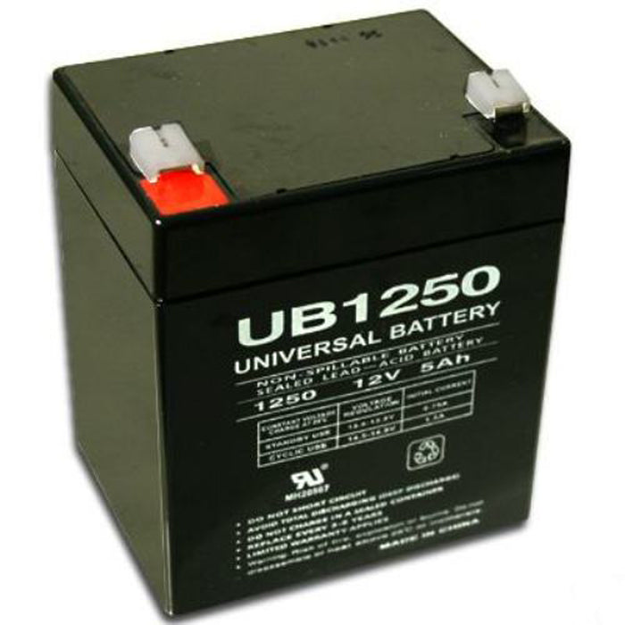 UPG 12V 5Ah Sealed Lead Acid - AGM - VRLA Battery - F2