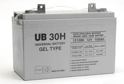 UPG GEL 12V 100Ah Sealed Lead Acid - GEL Battery - FL2