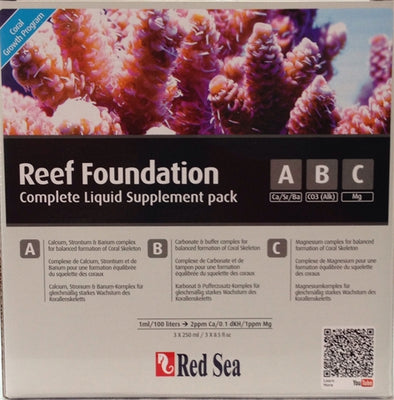 Red Sea Reef Foundation Liquid Starter Kit