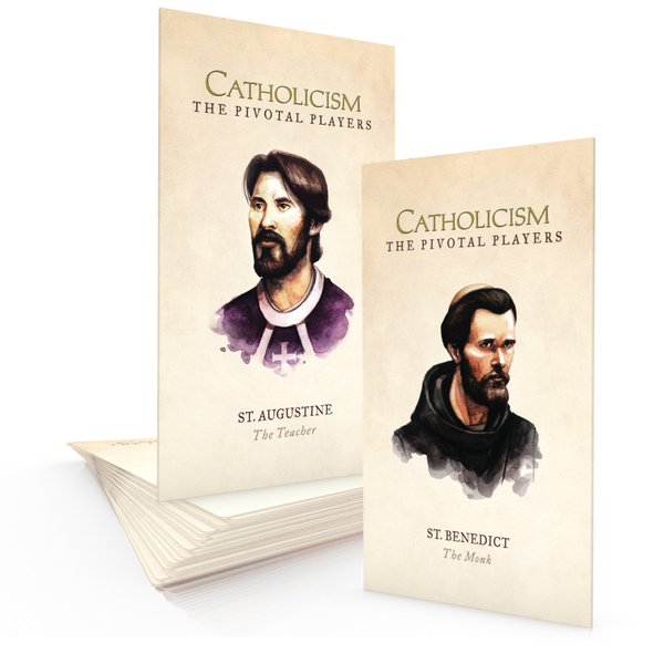 St. Augustine & St. Benedict - Prayer Card Packet
