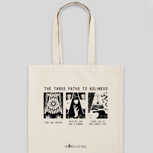 NEW - Three Paths to Holiness Tote Bag