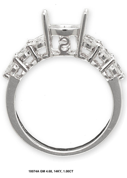 10074A-1 - 14K White Gold Engagement Ring